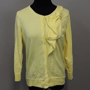 The Limited yellow bow detail cotton cardigan